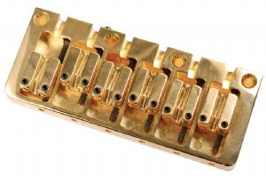 CONTEMPORARY 6 STRING BASS BRIDGE GOLD